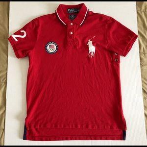 POLO RALPH LAUREN USA Olympic Big Pony Polo Sz Med